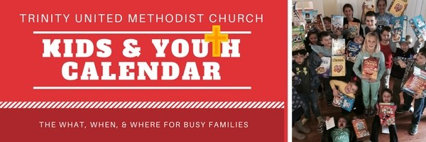 Trinity's Children's Ministries Monthly Calendar